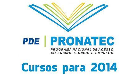Cursos Gratuitos Pronatec São Paulo 2014
