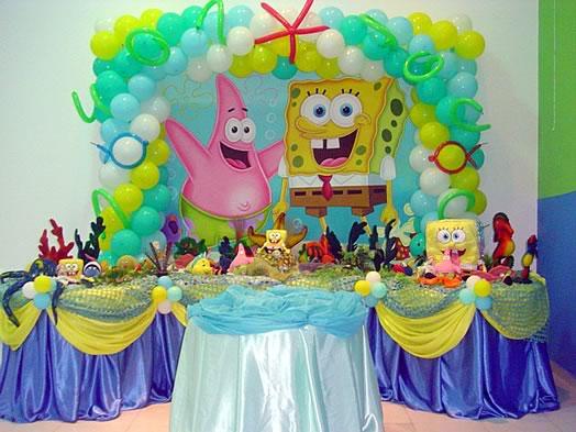 Decoração Festa Bob Esponja Aniversário Infantil: Bolos, Convites