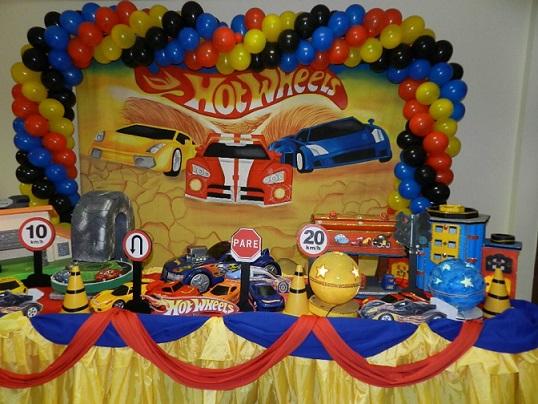 Decoração para Festa: Tema Hot Wheels