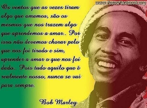 Frases do Bob Marley para Facebook