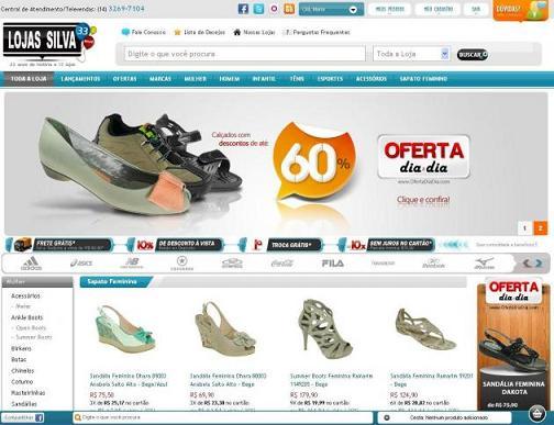 Ofertas Calçados Lojas Silva – www.lojasilva.com.br