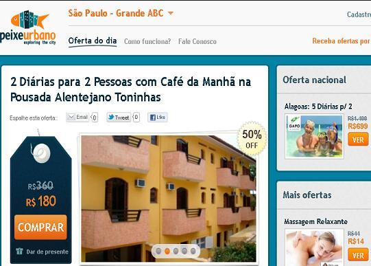 Site Peixe Urbano SP – www.peixeurbano.com.br