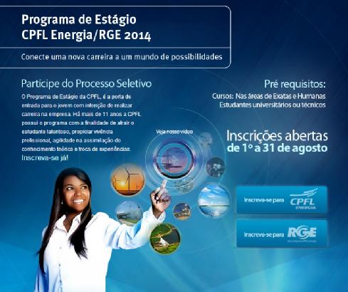 Programa de Estágio 2014 da CPFL Energia