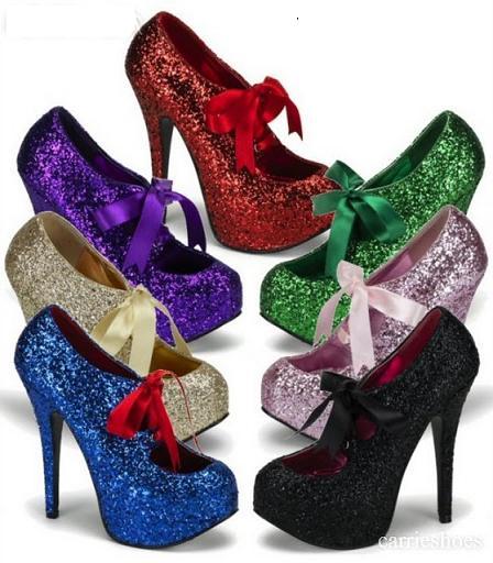 Sapatos com Glitter   Tendência e Modelos para 2012