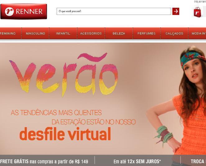 Site Lojas Renner – www.lojasrenner.com.br