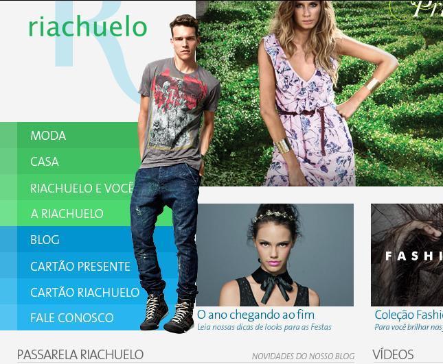 Site Lojas Riachuelo: www.lojasriachuelo.com.br