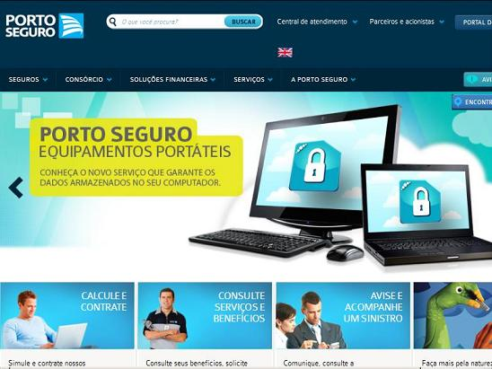 Site Porto Seguro, www.portoseguro.com.br
