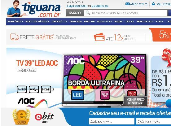 Site Tiguana – www.tiguana.com.br – Loja Virtual
