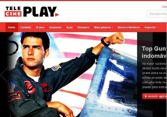 Site Telecine Play, www.telecineplay.com.br
