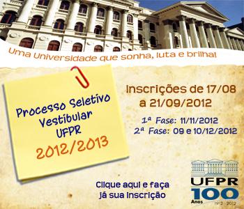 Vestibular UFPR 2013: Provas, Gabarito e Resultados