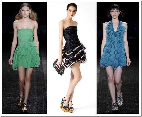 Vestidos Com Babados Moda 2012