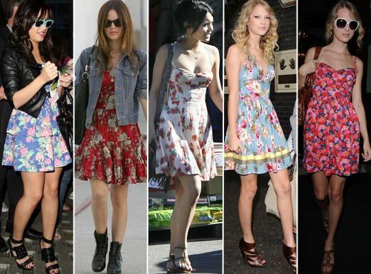 Vestidos Floridos para o Verão 2012